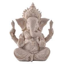 HONGGE Sandstone Ganesha Buddha Elephant ... - Amazon.com
