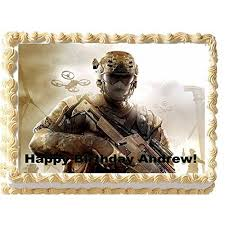 Personalized Edible Call of Duty Cake Topper call of duty cake