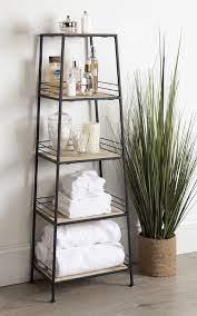 Urbane 44 5 H X 16 W 4 Tier Free Standing Shelf Tower Free Standing Shelves Home Decor Shelves