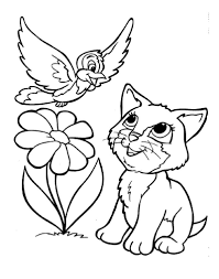 Cute Cat Coloring Pages Printable Cat And Dog Coloring Pages To