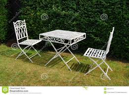 white iron garden furniture. exellent garden modern white metal outdoor furniture with garden  table and two chairs on a for iron