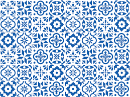 Pattern In Spanish Delectable Spanish Tile Pattern Smaller Size Fabric Elizajanecurtis