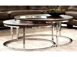 round nesting coffee table new mergot modern chrome 2 piece cocktail round nesting table set free today