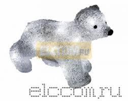 "Акриловая <b>светодиодная фигура</b> ""Медвежонок"" 24х11х18 см, 4,5 ..."