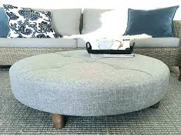 oval ottoman tray ivory leather tufted furniture excellent coffee table large pouf round square cushioned tables