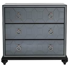 hollywood regency mirrored furniture. Hanson Hollywood Regency Smokey Grey Mirrored Dresser Nightstand   Kathy Kuo Home · View Full Size Furniture