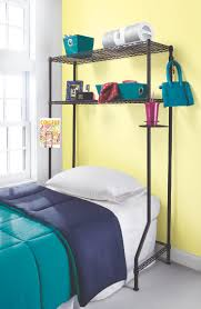 dorm space saver storage for over the bed desk or dresser creates storage space even where it doesn t exist