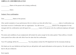 Sample Letter Confirming Employment 10 Sample Confirmation Letters Writing Letters Formats