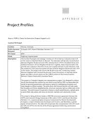 Appendix C Project Profiles Leveraging Private Capital