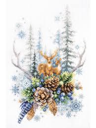 """Набор для вышивания """"Дух зимнего леса"""" Чудесная игла ..."""
