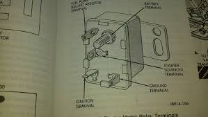 starter relay com usually it starts but occasionally it wouldn t start no relay click i pulled the wires and referring to the diagram attached