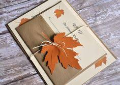 custom wedding invitations to match your wedding theme fall Diy Wedding Invitations Fall Theme find this pin and more on graphic design & advertising fall autumn wedding invitations Fall Color Wedding Invitations