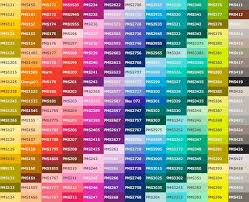 Psychology Complete Pantone Color Chart Google Search