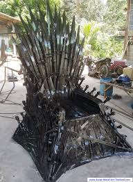 life size iron throne scrap metal art furniture alien table spiderman table predator