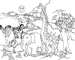 Giraffe Coloring Pages For Kids With Printable Giraffe Coloring