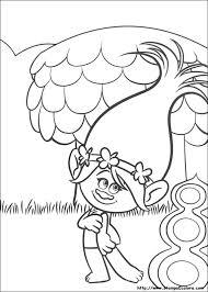 Colorare Cartoni Animati Trolls Trolls Disegni Da Colorare Dei