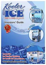 Kooler Ice Vending Machine Price Beauteous Kooler Ice Investors' Guide By KoolerIce Issuu