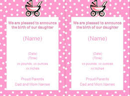 Baby Girl Birth Announcements Template Free Baby Girl Announcement Template Birth Announcement Email Template