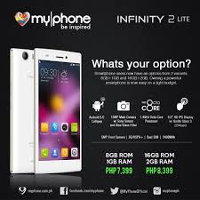 infinity 2. myphone infinity 2 lite goes official: specifications, features and price r