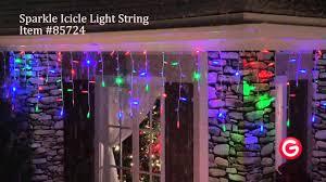 Gemmy Icicle Lights Gemmy Lightshow Sparkle 85724 Sparkle Icicle Multi