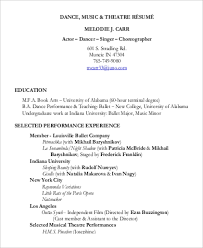 Sample Theatre Resumes Sample Theatre Resume 9 Examples In Word Pdf