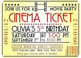 Movie Night Invite Template Lovely Free Printable Movie Ticket