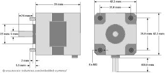 stepper motor specifications nema 17 1