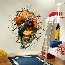 3d dinosaurs wall stickers jurassic age home decoration 1461 diy cartoon living room animals print decals for kids boy room in wall stickers from home  on dinosaur bedroom wall stickers with 3d dinosaurs wall stickers jurassic age home decoration 1461 diy