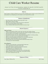 Resume Resume Examples For Child Care Gabrieltoz Worksheets For