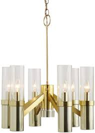 at rejuvenation rejuvenation six light contemporary chandelier w 2 tone finish