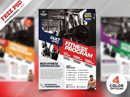 Gym Fitness Flyer Design Psd Bundle Psdfreebies Com