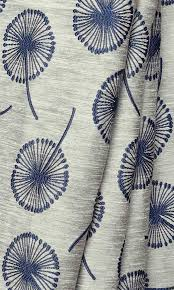 Navy Blue Patterned Curtains Beauteous Curtains With Contemporary Floral Prints I Custom Sizes I Navy Blue