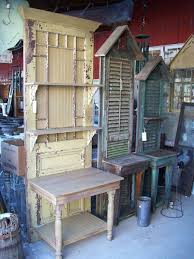 bench made from old shutters