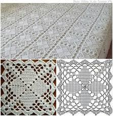 Crochet Tablecloth Pattern Beauteous Crochet Tablecloth Pattern Copriletto A Mattonelle YKSNBID