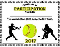 Free Printable Softball Certificates Girls Softball Award Certificate Template Archives Madhurbatter