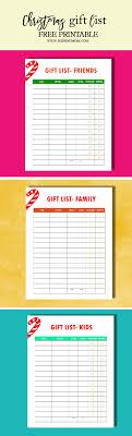 Printable Christmas Gift List Template Use This Free Printable Christmas Gift List