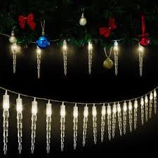 Details Zu 30 Led Lichterkette Weihnachtsdeko Fensterdeko Eiszapfen Girlande Weihnachten