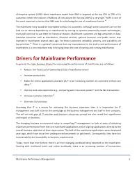 hclt research paper mainframe performance management for instance the mainframe performance management 4 5