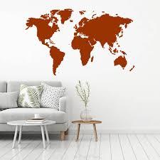 Muursticker Wereldkaart Muursticker4sale