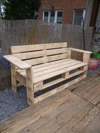 My new bench made today with pallets! Mon nouveau banc en palettes fait ce  jour