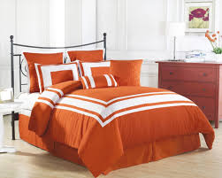elegant orange comforter sets