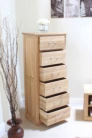 Tallboy Bedroom Furniture Oak Tallboy Chest Of 6 Drawers Mobel Oak