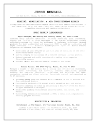 Sample Resume Hvac Resume Objective Examples Career Objective
