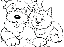 Puppy Dog Coloring Pages Printable Cute Colouring Free Kittens S