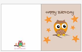 Birthday Printable Cards Happy Birthday Printable Free Owl Birthday Cards Free