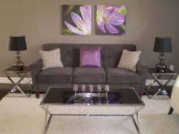 Awesome Purple And Gray Living Room Ideas House Design Interior