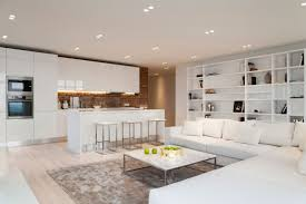 White Cabinets Living Room White Loft In Kiev Ukraine Designed By Kashuk Constantine Whoovie