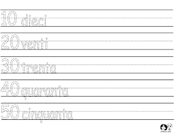 numbers worksheets italian   Italian Worksheets for Children ...