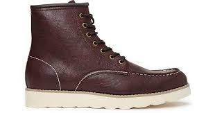 forever 21 faux leather moccasin boots in purple for men lyst