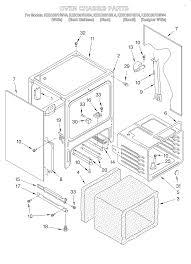 kesc307hbt4 electric slide in range oven chassis parts diagram